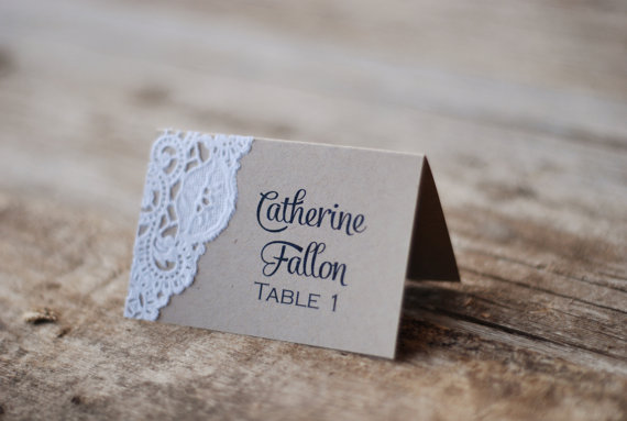 Place Cards vintage wedding gifts