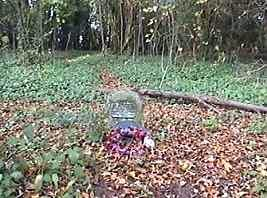 Memorial stone in Dead Mans Wood