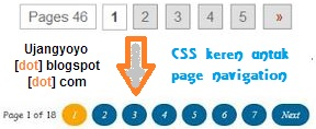Costumalisasi page number navigation
