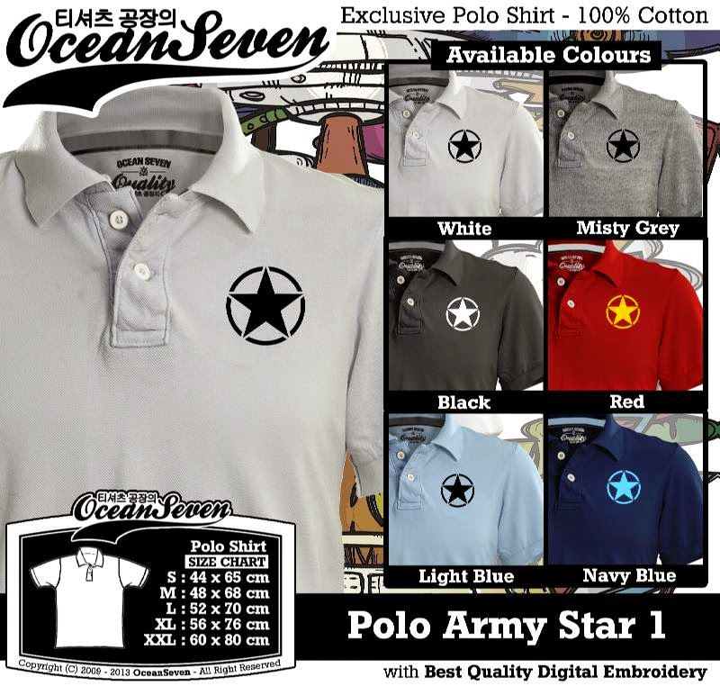 Kaos Polo Army Star 1