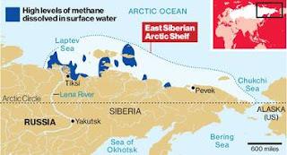 La retirada del hielo del Ártico está liberando enormes fuentes de Metano