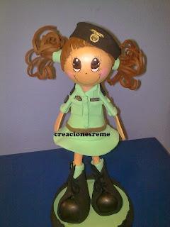 fofucha-creacionesreme-personalizadas-foami –militar-ejercito-tierra-paracaidista