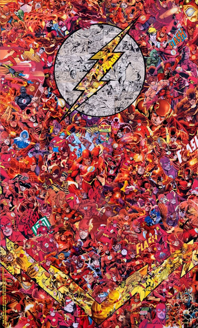 """The Flash Chest"" Print by Mr Garcin x Geek Art x French Paper Art Club"