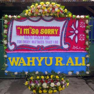 bunga ucapan permintaan maaf