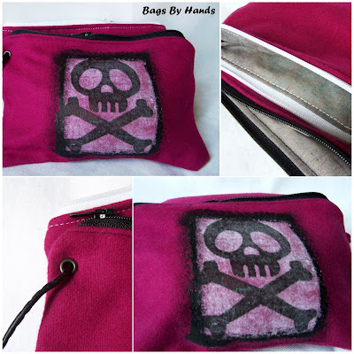 duo trousses feutrine rose/pink felt pouch set