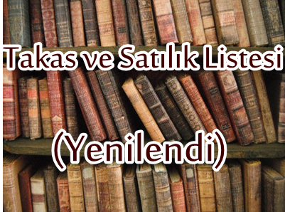 TAKAS VE SATILIK LİSTESİ