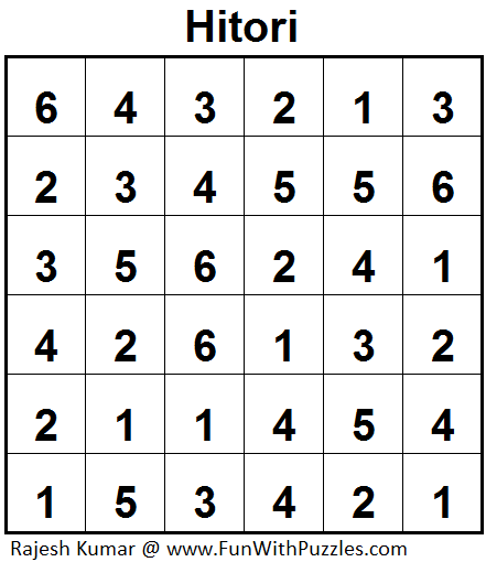 Hitori (Mini Puzzles Series #25)