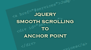 Jquery Smooth Scrolling to anchor point