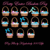 Pretty Easter Baskets PNG Tubes