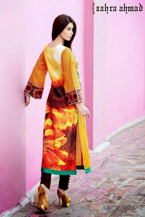 Zahra Ahmad Summer Dresses 2014-2015