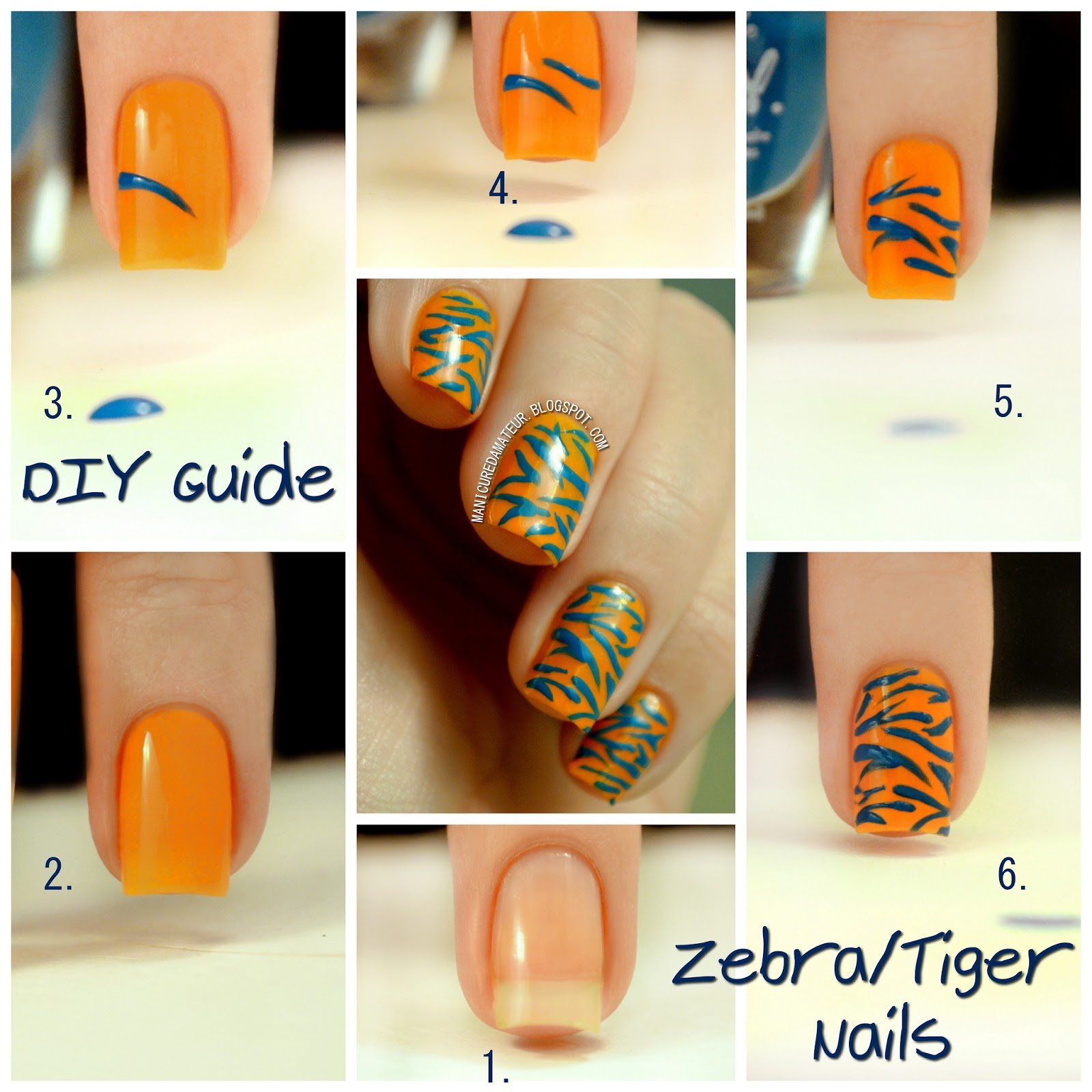 LA Girl DIY Nail Art Kit Review Part Two Tiger Zebra Stripes Tutorial
