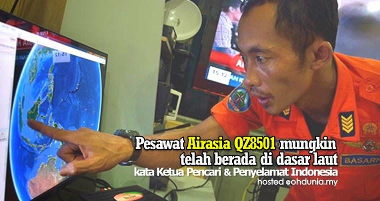 Pesawat QZ8501 mungkin berada di dasar laut - Ketua SAR Indonesia