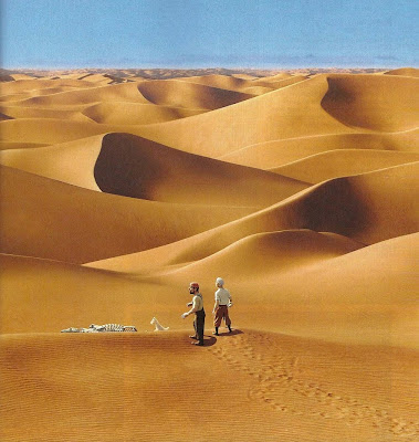 cena no deserto, no filme As Aventuras de Tintim, de Steven Spielberg e Peter Jackson