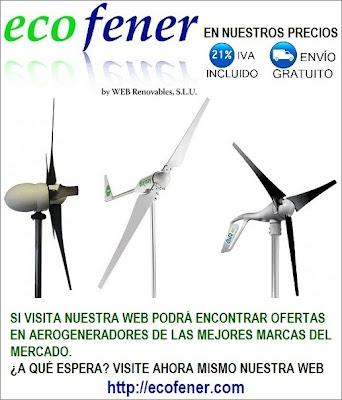 Los mejores aerogeneradores del mercado los encontrarás en ecofener.com