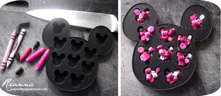 Hand Made By Rianna: Homemade Minnie Mouse Crayons