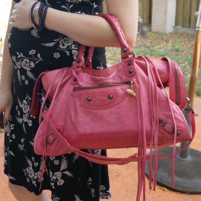AwayFromTheBlue | Balenciaga RH classic city in 2010 sorbet pink
