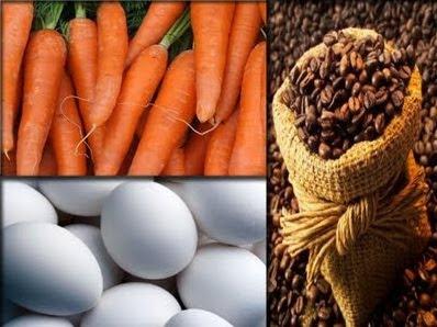 ¿Zanahoria, huevo o café?