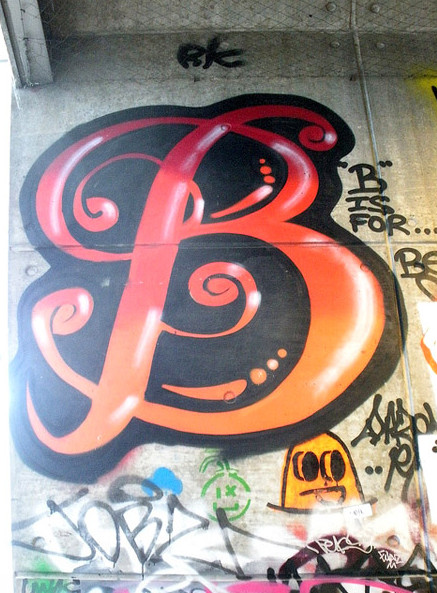 the gallery for gt the letter b in graffiti