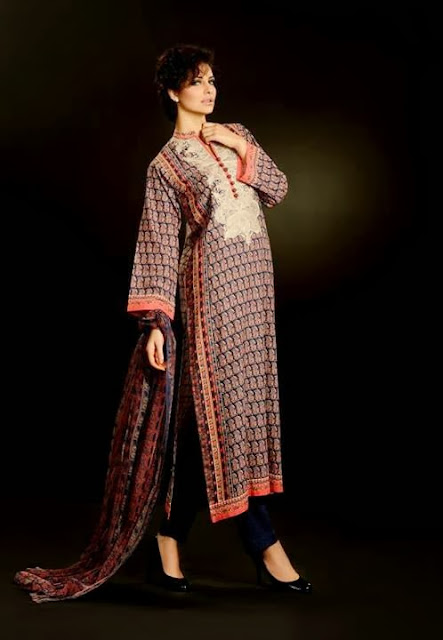 Khaadi New Winter Wear Collection 2013-14 For Girls