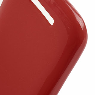 TPU Jelly Case with Matte Back Side for Lenovo A706 - Red