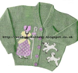 Free Pattern 1940's Knitting - Little Bo Peep Cardigan