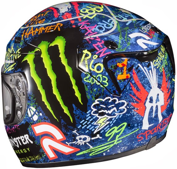 HJC Lorenzo Replica Full Face Motorcycle Helmets