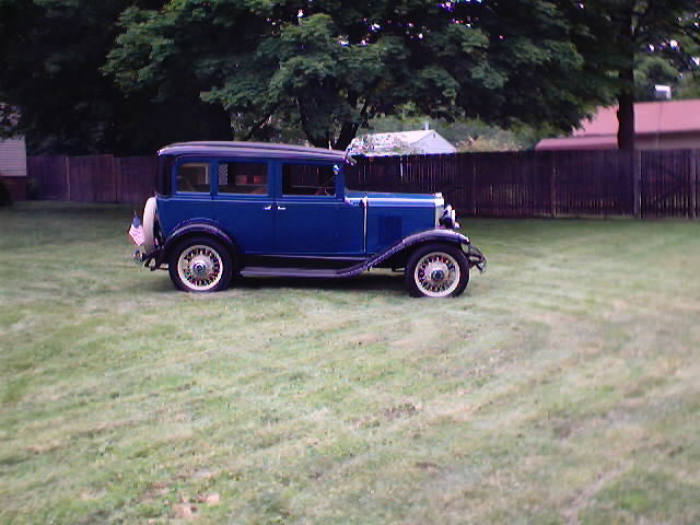 My 1930 Chevy in the back yard