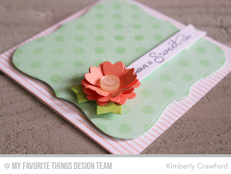 For the love of paper have a sweet day creative construction with to create this dimensional flower i cut coral crush cardstock three times with the flower die from blueprints 19 by bending up the sides a little more on malvernweather Images
