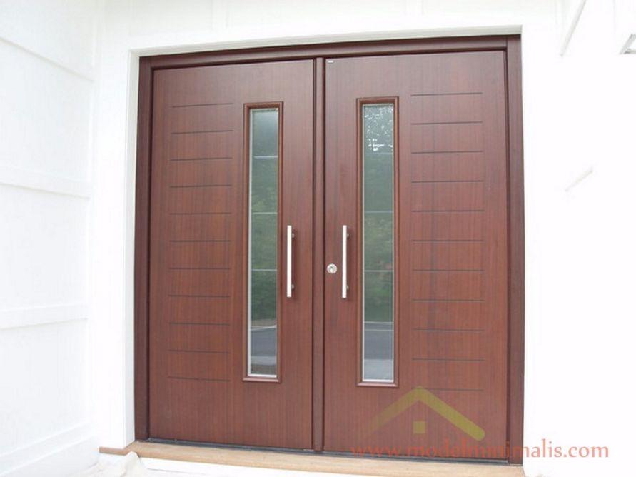 contoh daun pintu motif kaca populer
