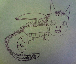 funny kid drawing, dragon drawing