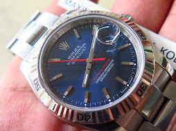 ROLEX OYSTER PERPETUAL DATE JUST TURN O GRAPH SUNBURST BLUE DIAL - ROLEX 116264