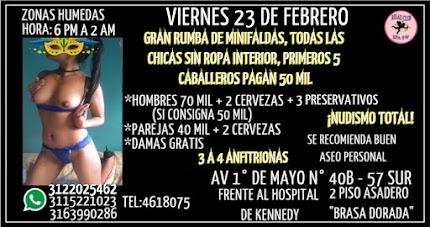 VIERNES 23 DE FEBRERO DE 6 PM A 2 AM HERMOSAS CHICAS HACEN GANG BANG