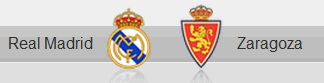 Real Madrid and Zaragoza shields