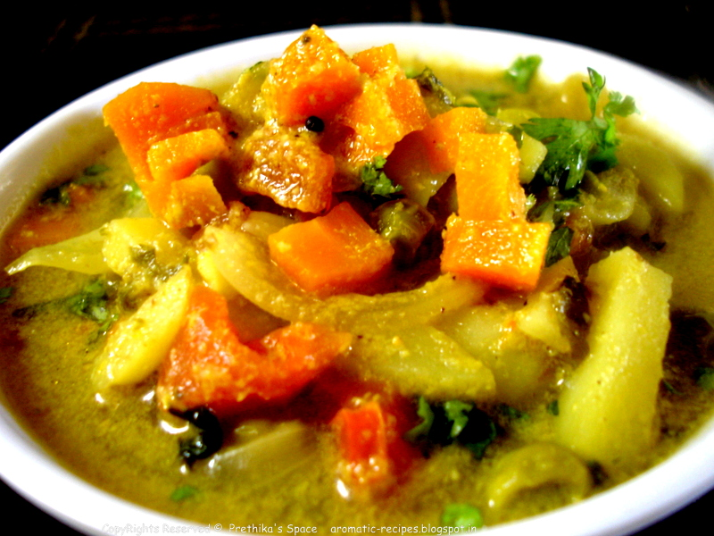 Vegetable Kurma For Chapathi Prethika's Space: Home...