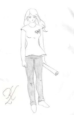 Garota triste (desenho)