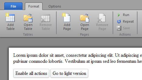 Office 2010 Style Ribbon Toolbar in HTML/CSS/JS