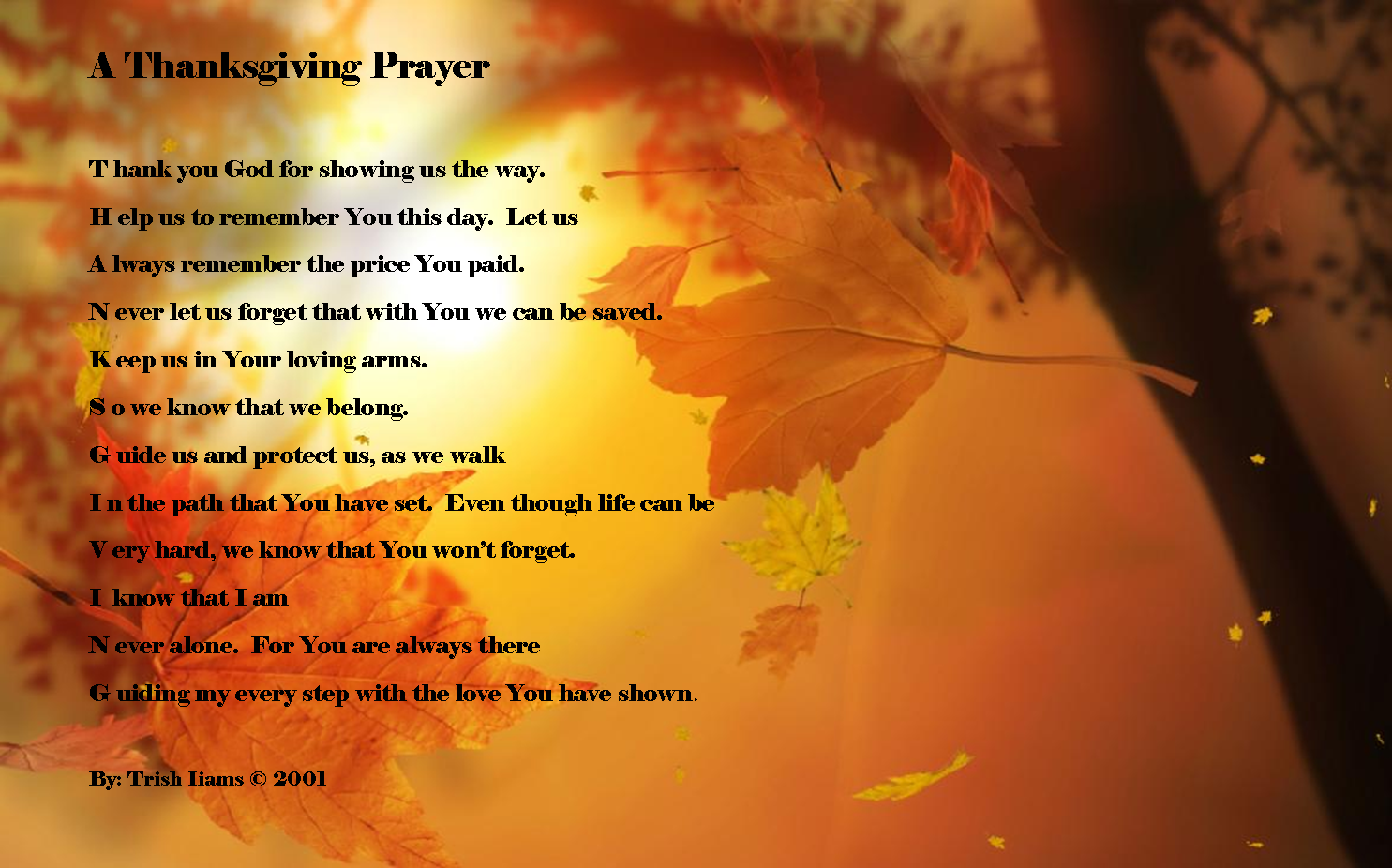 Prayer Resource For Schools Thanksgiving Prayers