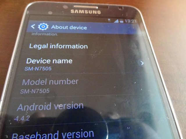 Samsung Galaxy Note 3 Neo Android KitKat