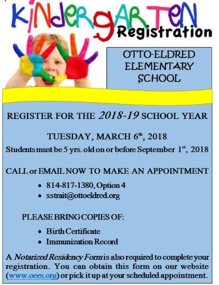 3-6 Kindergarten Registration