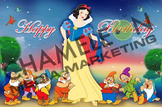 Snow White Themed Birthday Banner