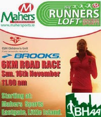 Cork BHAA Maher Sports 6k race in Little Is nr Cork Coty. Sun 16th Nov 2014