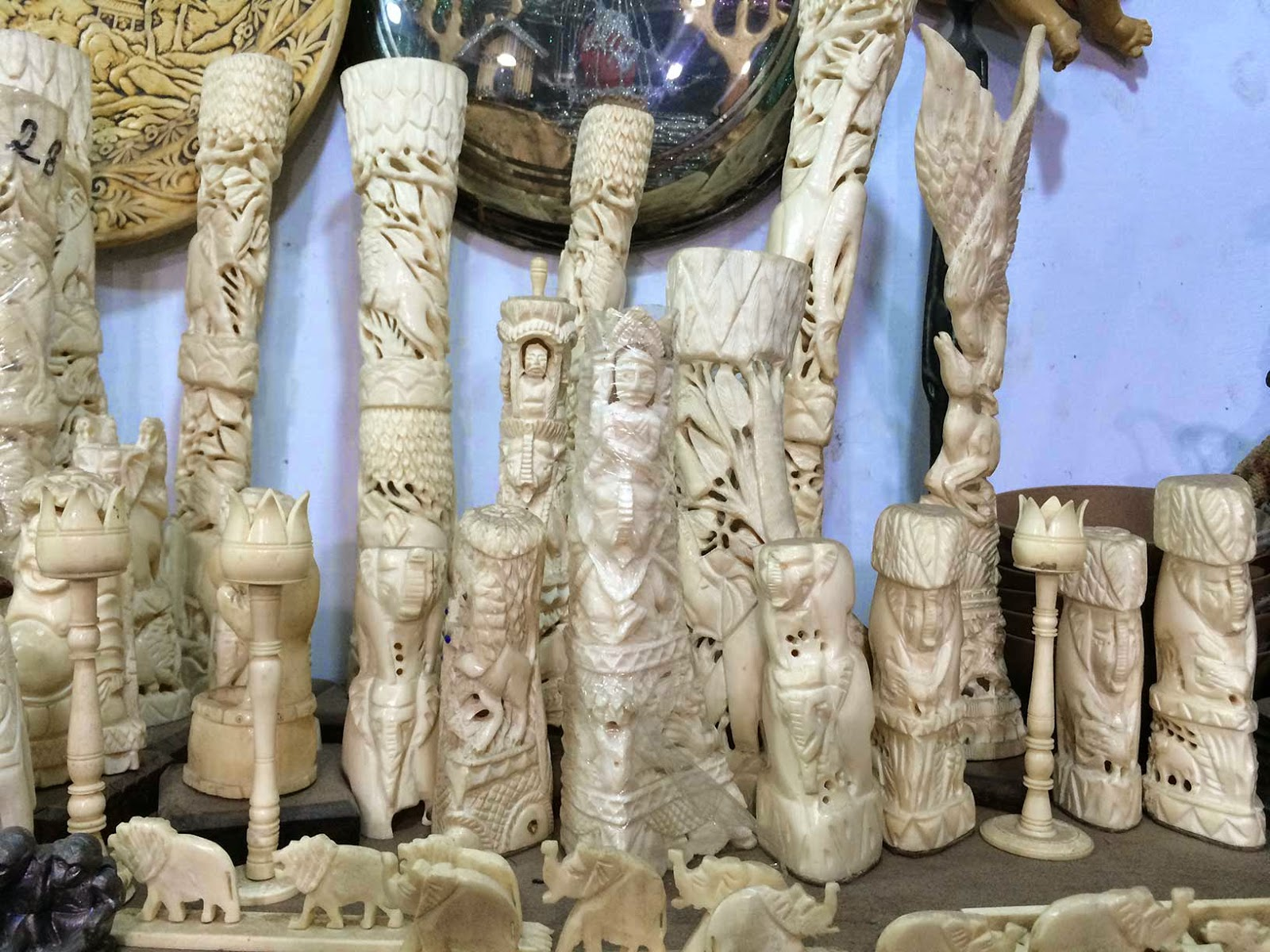 modern camel bone figurines