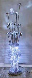 Lampara de Pie Jarron Flores Belles, lampara jarron