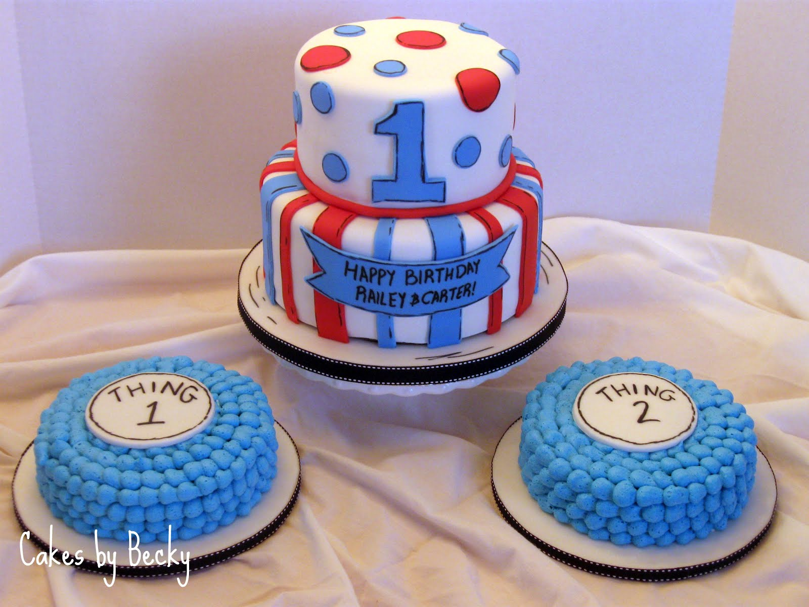 Cake Ideas For 1st Birthday Twins : Twins themes on Pinterest Twin First Birthday, Thing 1 ...