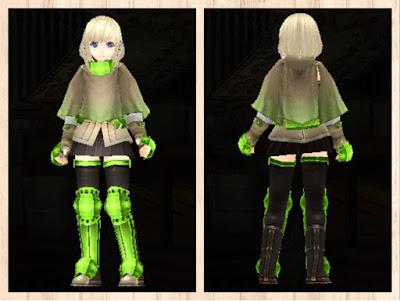 冒険者の服 蛍光緑3 重量化