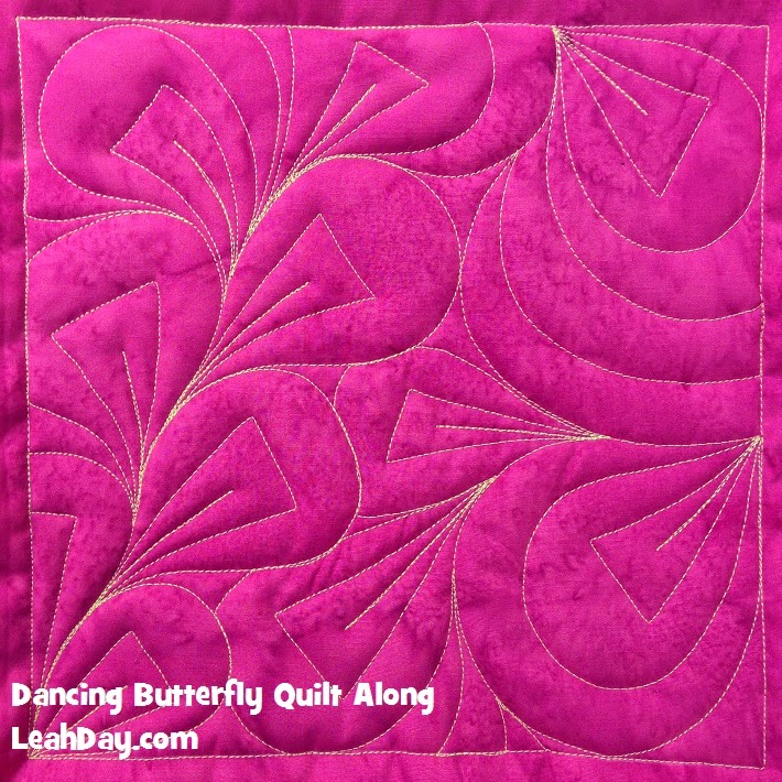 free motion quilting design abstract leaf