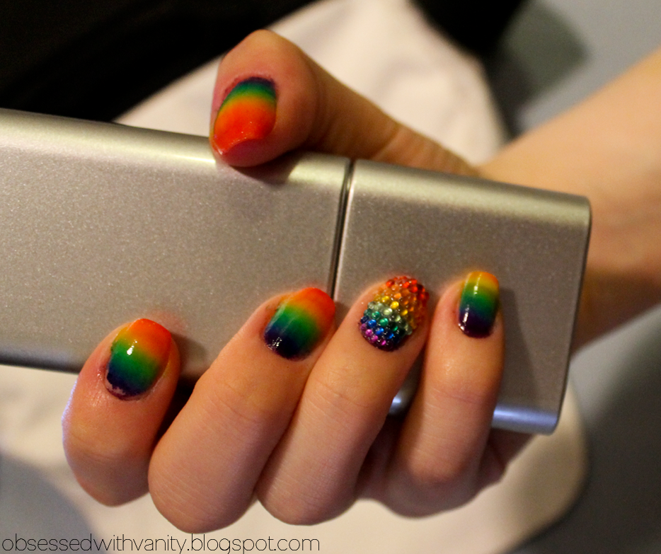 Rainbow Ombre Nails Rainbow Ombre Happy September