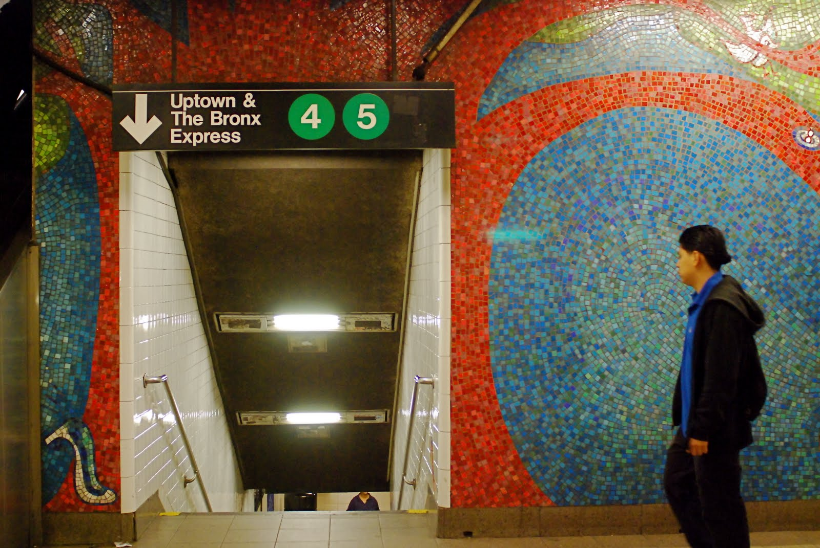 BLOOMING Is The Title Of This Beautiful Subway Art At Mezzanine Lexington Avenue 59th Street Station Large Scale Mosaic Mural By