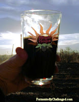 High Hops glass at sunset