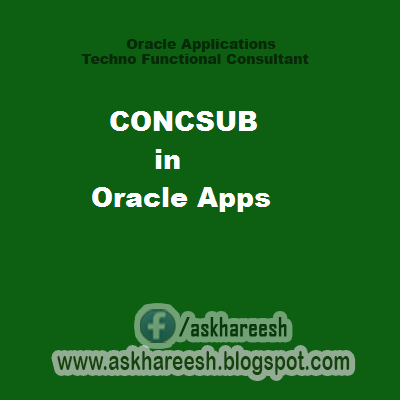 CONCSUB in Oracle Apps, askhareesh blog for Oracle APps